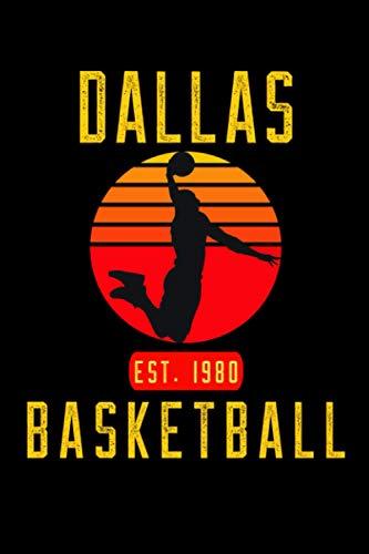 Dallas Basketball: Retro Sunset Basketball Player Notebook Gift Idea