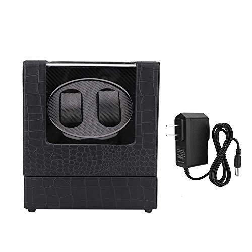 Caja enrolladora de reloj 2 + 0 Caja enrolladora automática de doble cabezal, modos de regulación de cinco velocidades Caja enrolladora profesional ajustable, para el hogar o relojería(EU Plug 2#)