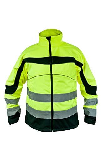 KG Urgent Softshelljacke Arbeitsjacke GELB Softshell Wasserdicht Herrenjacke Berufsjacke Neongelb Winterjacke (XXXL)