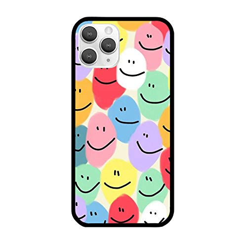 Smiley iPhone Case Clear Smile Smiley Face Drawing Aesthetic Emoji Phone Cover 6 7 8 X XS XR 11 12 pro max se Gift Idea