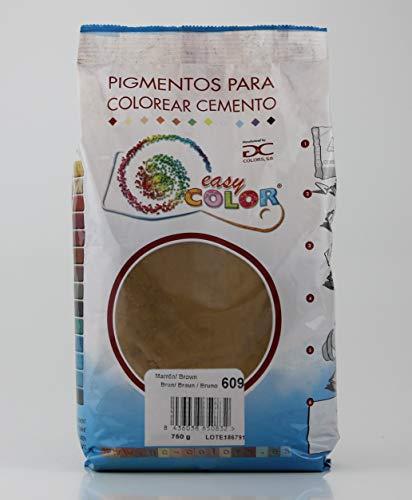 Easy Color pigmento Marrón 609 para cemento, mortero y hormigón (Óxido de Hierro) (Marrón 609)
