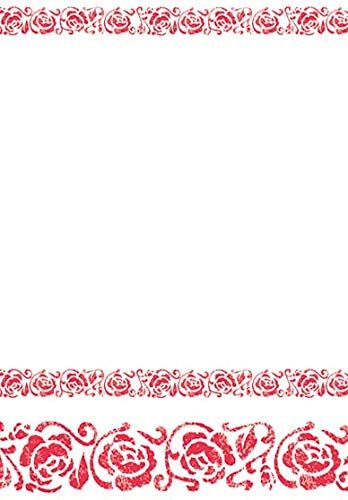 Rood Ontwerp Luxe Papier Tafelkleed - Enkel