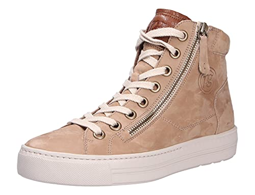 Paul Green Damen Sneaker Gymnastikschuh, r.Nubuk/w.Kid Alpaca/Cognac, 38 EU