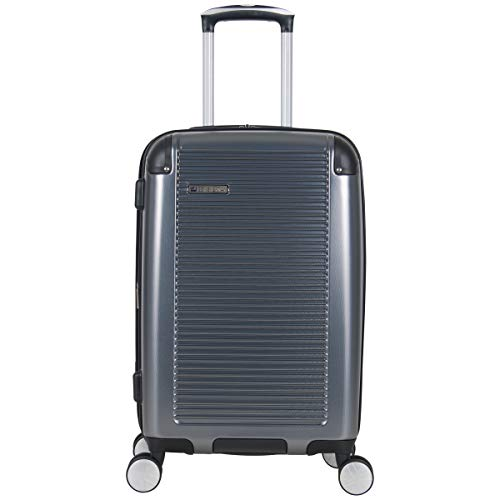BEN SHERMAN Norwich 20' Lightweight Hardside PET Expandable 8-Wheel Spinner Carry-On Suitcase, Gunmetal