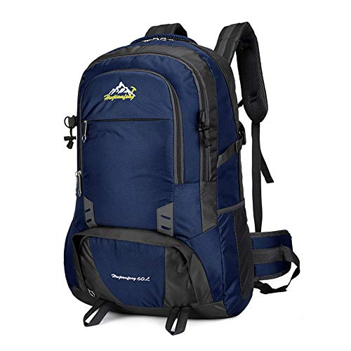 ZKDY Outdoor Sharp New Outdoor Sports Mochila Bolsa De Montañismo De Gran Capacidad Mochila Multifunción Impermeable Y Resistente Al Desgaste-Lago Azul