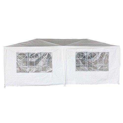 Oypla 3m x 6m White Waterproof Garden Gazebo Marquee Awning Party Tent