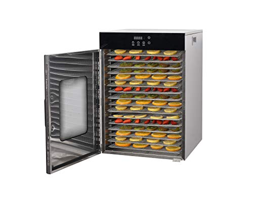 Learn More About Kolice Commercial high Capacity Tabletop 16-Tiers Dried Fruit Machine, Drying Machi...