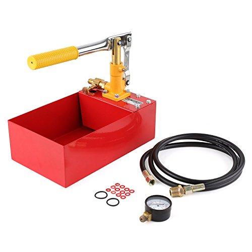 """FIXKIT 5 Liter Abdrückpumpe, 2,5 MPa Prüfpumpe, Befüllpumpe, Druckprüfpumpe für Solar und Heizung, Heizleckdruckprüfpumpe mit 1/2\"""" Hochdruckschlauch"""