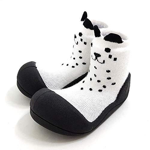 [Attipas]アティパスベビーシューズ[キューティ]S(10.8cm)1.ホワイト/かわいいベビーシューズ滑り止め公園遊び出産祝いプレゼントあんよの練習保育園靴ソックスシューズプレシューズ室内履き女の子男の子