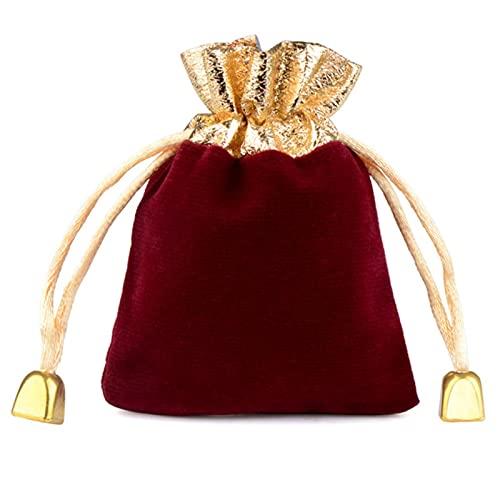 CHENSHUAI, 20 Piezas, Bolsas de Paquete de Terciopelo Vintage, cordón Dorado, cordón Negro, Rojo, Azul, Bolsas de Regalo, Embalaje de joyería de Boda