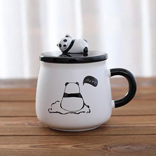 Tazza Boccale Mug Tazzine Divertenti Tazze da caffè Panda Tazza da caffè da Ufficio in Ceramica Creativa Tazza da Acqua per Bambini Tumbler Tazze E Tazze Regalo di Compleanno di Natale Groot, Rosso,