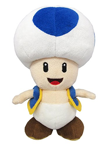Sanei Super Mario All Star Collection AC31 Blue Toad 8' Plush