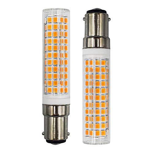 B15D LED Glühbirne 7W 100W Halogen-Equivalent SBC Kleine Bajonett LED-Birnen, 230V Dimmbar Super Hell Warmweiß 3000K Für Maschinenleuchte, Nähmaschinen, Stehlampe, 2er Pack [MEHRWEG]
