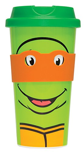 Fizz Creations Teenage Mutant Ninja Turtles Mug de Voyage Orange (Michelangelo)