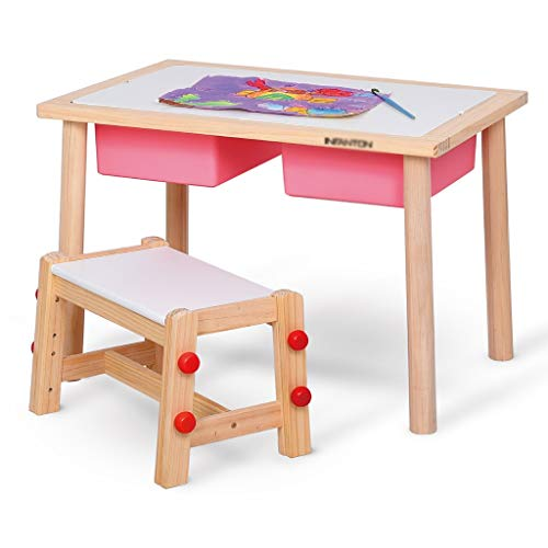 Table d'étude pour enfants Tables et chaises de Jouets pour Enfants Table de Jeu pour Enfants Peut Supporter Un Poids de 200 kg (Color : Pink)