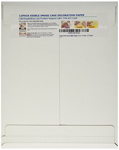 Lucks Print Ons Edible Paper, 8.5 x 11 Inch, 12 Count