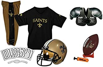 Franklin NFL New Orleans Saints Youth Licensed Deluxe 9-pc Uniform Set, Small