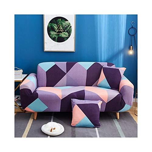 ZIJ Funda elástica para sofá con diseño de cruz para sofá de salón, funda de sofá de sofá (color: color 20, especificación: 1 asiento 90 140 cm)