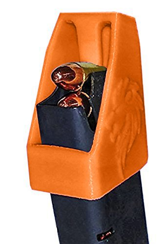 Double Stack Magazine Loader RAE-701 for Many calibers of Pistol Magazines Including 32 auto, 9mm Luger, 22TCM.357 SIG.380 ACP, 10mm Auto.40 S&W.45GAP .45 ACP Made in The USA (Orange)