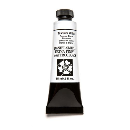 DANIEL SMITH Extra Fine Watercolor 15ml Paint Tube, Titanium White