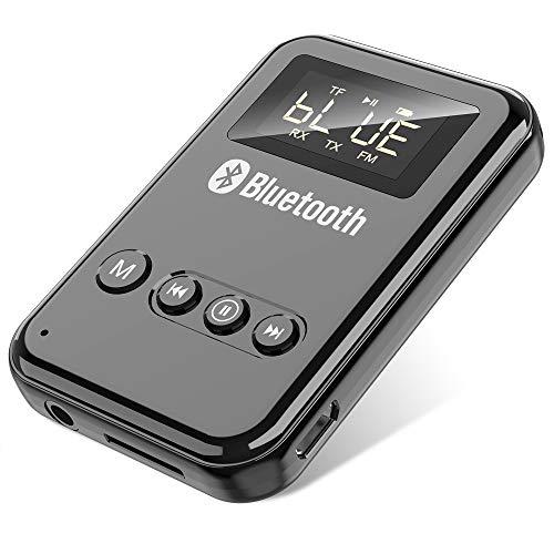 GuangDa Receptor transmisor Bluetooth, Adaptador de Audio Bluetooth 5.0 3 en 1, Adecuado para PC, TV, Altavoces con Cable, Auriculares y automóviles, Sistema estéreo doméstico