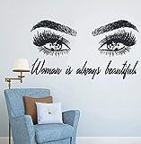 Maquillaje Etiqueta de la pared Ojos Pestaña Pared Extensión de pestañas Tienda de belleza Ceja Regalo de belleza