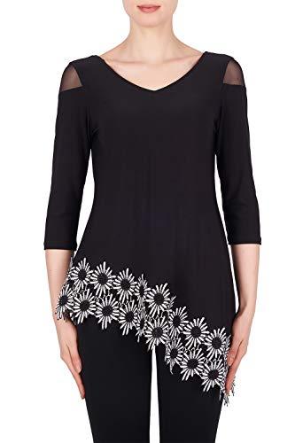 Joseph Ribkoff Authentic Women's Top Style 191309 - Multi - 20 Black, White