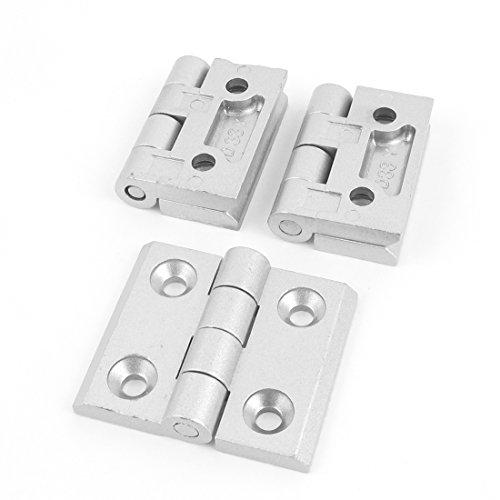 PZRT Aluminum Profile Hinge Install Kit 2 x Zinc Alloy Hinge,8 x M6 T-Nuts 8 x M6 Hex Socket Flat Head Screw,for 3030 Serie 8mm Slot Aluminum Profile Extrusion Frame