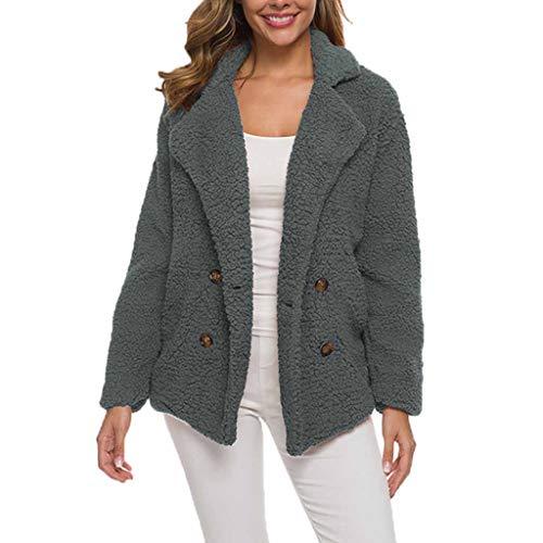 Hoodieswj Vrouwen Warme gebreide jas met lange mouwen pluche mantel fluffy bont gebreide jas winterfleece met capuchon twee-rijige jas