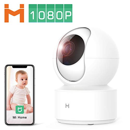 1080P Wireless Smart Home Indoor Baby IP Security Xiaomi Camera IMILAB,2.4Ghz WiFi Surveillance Dome Camera Pet Nanny Monitor with 4 X Zoom,Two-Way Audio,Night Vision,Pan/Tilt,Remote View No SD Card