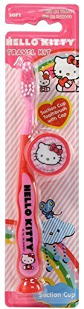 窓ペダル元に戻すHello Kitty Travel Kit Toothbrush 3 Pack Soft Pink by Dr. Fresh