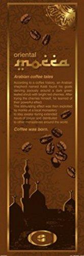 1art1 Kaffee - Mokka, Orientalische Kaffee-Legende, In Englisch, 1-Teilig Fototapete Poster-Tapete 250 x 79 cm
