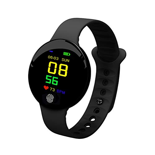 WUHUAROU Pulseras Inteligentes Reloj de Pulsera de Fitness Pulsera de Actividad de Salud Banda Inteligente Podómetro de Fitness Deportes Presión Arterial (Color : Black)