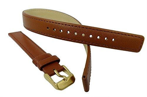 s.Oliver Uhrenarmband Wickelarmband Leder Band 14mm braun glatt SO-2085-LQ