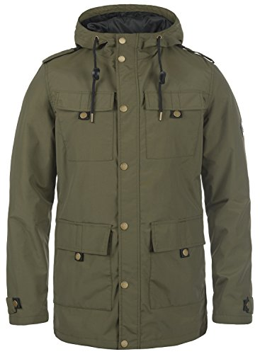 Redefined Rebel Moe Herren Übergangsjacke Parka Mantel Herrenjacke Jacke mit Kapuze, Größe:L, Farbe:Dark Olive