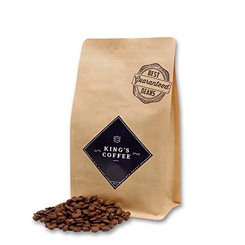 BLACK SELECTION - prämierter Arabica-Robusta Espresso-Bohnen-Blend | von Hand geröstet & verpackt | feine Nuss & Schokolade Aromanoten | ganze Kaffeebohnen für Vollautomaten & Siebträger