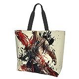 Assassin's Creed Damen Fashion Mädchen Reise Schule Lebensmittel Canvas Einkaufen Geschäft Pendler...