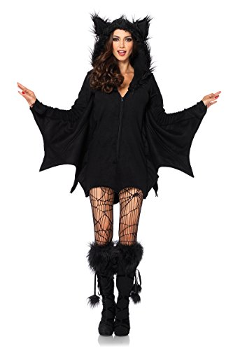 Leg Avenue- Cozy Bat Ensemble de Costume, 85311, Noir, S (EUR 36-38)
