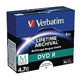 Verbatim MDISC DVD R 4,7 GB - 4-fache Brenngeschwindigkeit - hohe Lebensdauer - 5 Stück Spindel