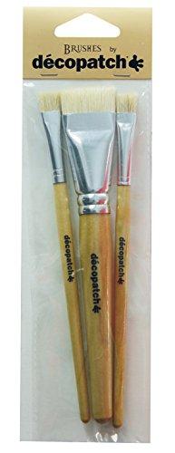 Décopatch PACKPCSOIEO Pinsel Seide (7 x 23,5 cm, speziel für unebene Untergründe) 3er Pack