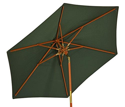 Kai Wiechmann Sonnenschirm Sunshine ø 240 cm, grün, UV-Schutz 50+ ✓ kippbar ✓ Windauslass ✓