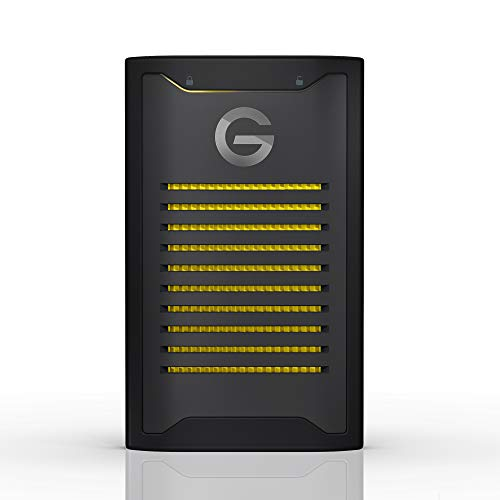G-Technology ArmorLock verschlüsselte NVMe SSD 2 TB (Hardware Verschlüsselung, bis 1000 MB/s lesen, Staub-/wasserbeständig, inklusive App) schwarz, 0G10484-1