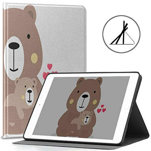 Funda para 9.7 Apple iPad Baby Bear Teddy Fashion Cartoon Fit 2018/2017 iPad 5.ta / 6.a generación Funda para iPad 9.7 Pulgadas También se Ajusta al iPad Air 2 / iPad Air Auto Wake/Sleep