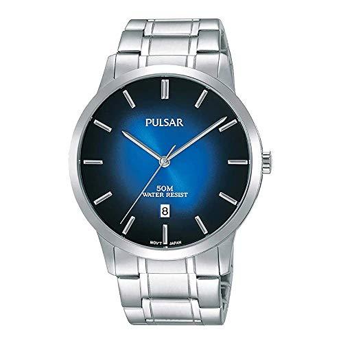 Pulsar Quarz Herren-Uhr Edelstahl mit Metallband PS9527X1