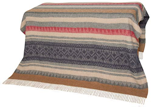 Authentic Alpaca Throw Blanket - Coziness Guaranteed by Alpaca's Best Natural Thermal Management: Never Too Warm or Too Cold, Always Cuddly! - Premium Quality - Beautiful Classic Southwest Design