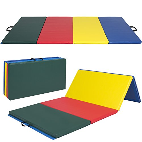 Best Choice Products 8 ft x 4 ft Gymnastics Mat, 4-Fold Foam Exercise Gym Floor Mat for Workout,...