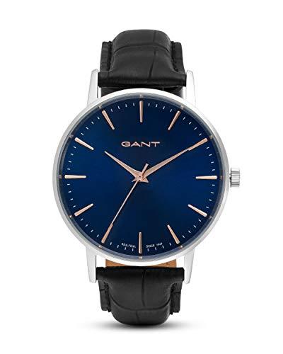 Gant Unisex Erwachsene Analog Quarz Uhr mit Leder Armband GT081007