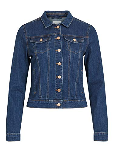 Vila Female Jeansjacke Taschen LMedium Blue Denim 2