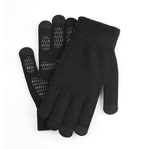 Valensha Men/Women Winter Knitted Fabric GlovesAnti-Slip Knit Touch Screen Soft Warm Thermal Gloves 1 Pair Women