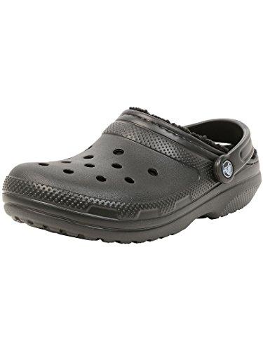 Crocs Classic Lined Clog, Zuecos Unisex, Negro, 41/42 EU